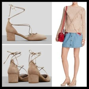 kenneth cole // toniann block heel lace up pumps